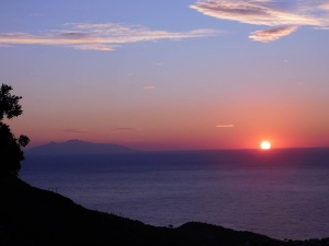 Poésie Corse : mer, coucher de soleil