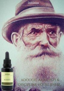 Bandit, huile à barbe, nourrit et discipline les barbes courtes à longues