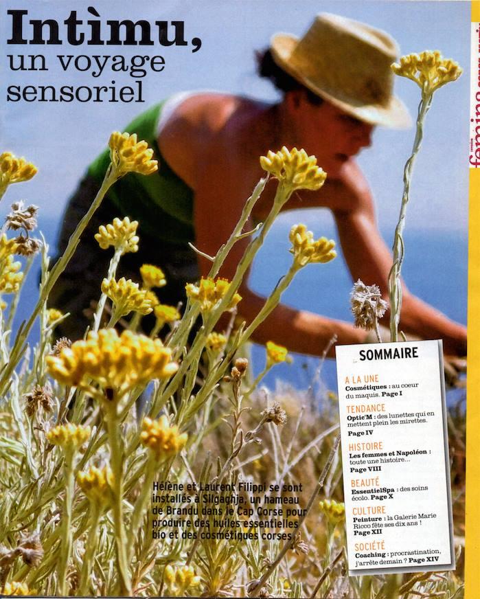 Bel article sur Intimu, producteur d'huiles essentielles en Corse