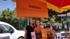 Intimu au marché de producteurs de Oletta à côté de St Florent, Corse