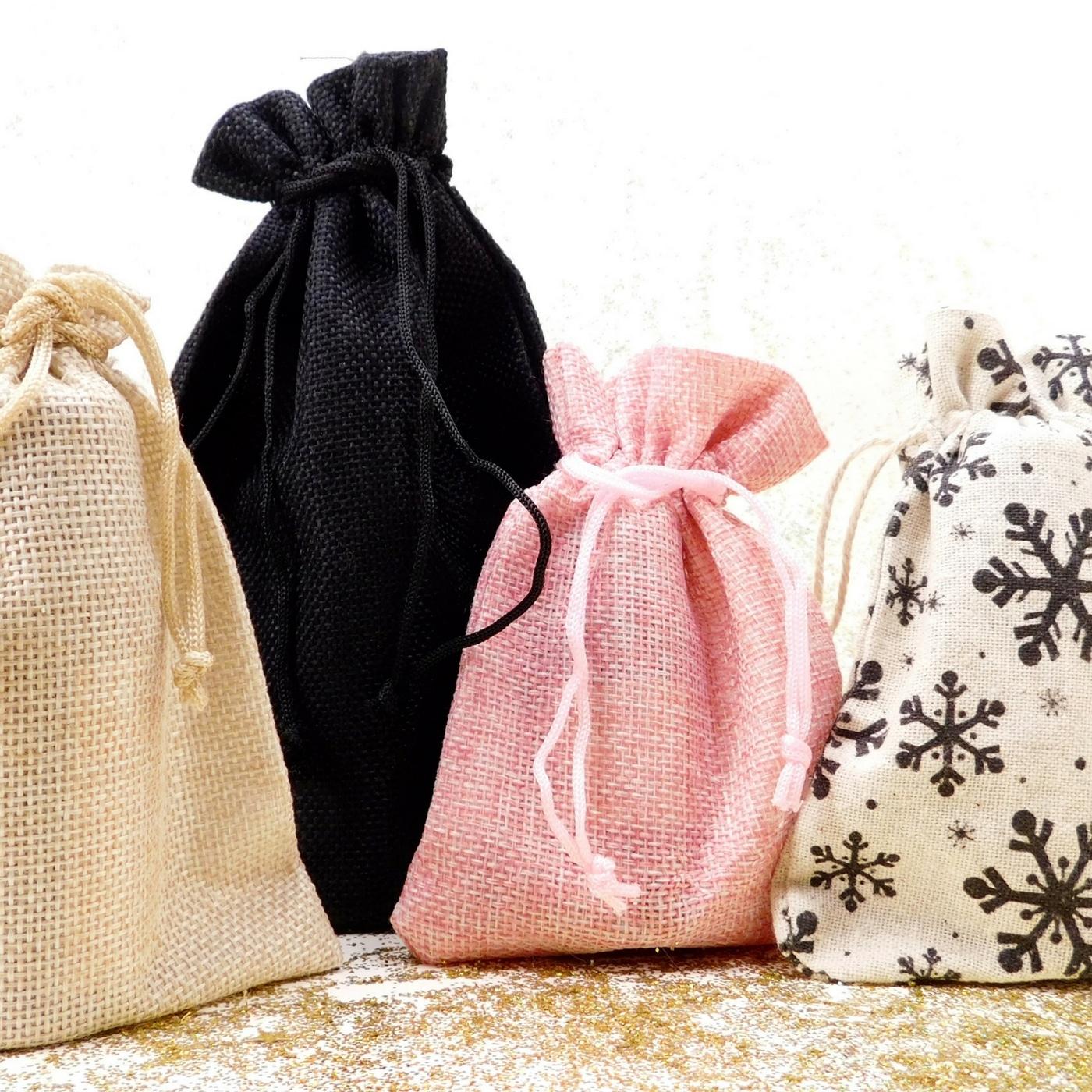 sacs en toile de jute, emballage éthique Intimu