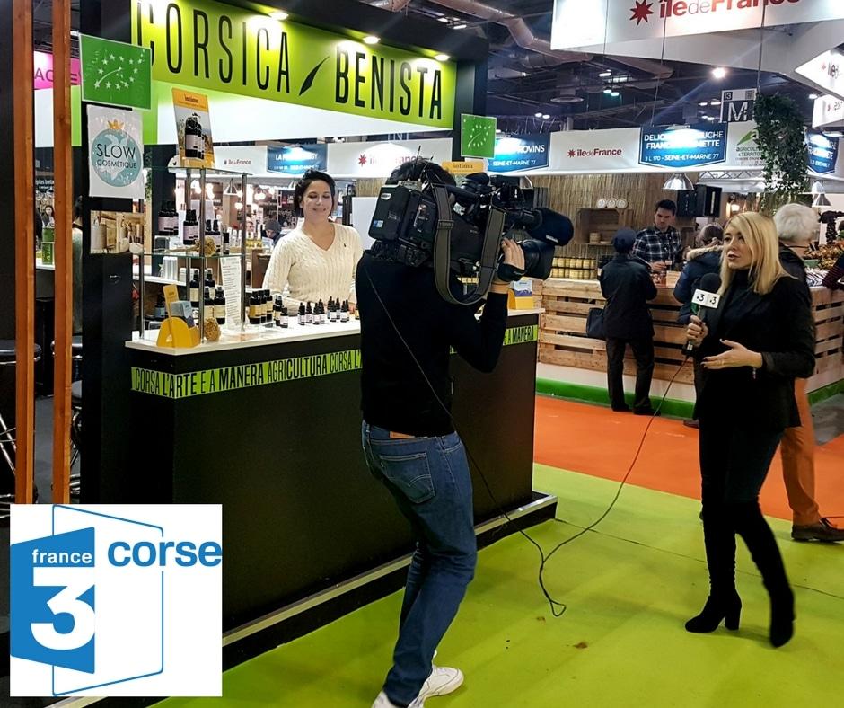 Tournage du Corsica Sera au salon de l'agriculture région corse