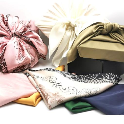 Furoshiki, l'art de l'emballage japonais pour cosmétique naturelle corse Intimu